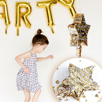 DIY Shooting star party pinata -  fun party decor