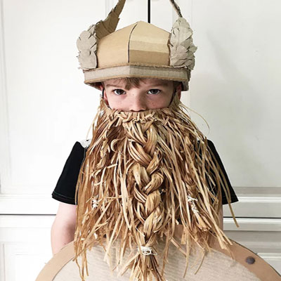 Cardboard box viking helmet (free template & video tutorial)
