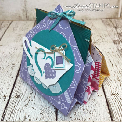 DIY 6 pocket treat holder - scrapbook