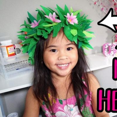 DIY Moana's flower headband - costume for kids