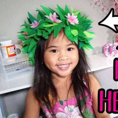 DIY Moana's flower headband - costume for kids