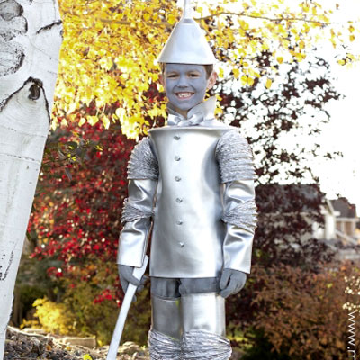 DIY Tin man costume for kids (The wizard of Oz)