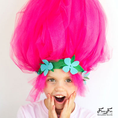 DIY Giant troll hair - fun costume for kids