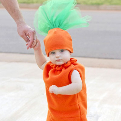 DIY Carrot costume - costume for kids (free sewing pattern)
