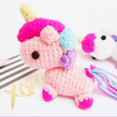 Baby Unicorn Free Amigurumi Pattern & Video Tutorial - Sueños ... | 400x400