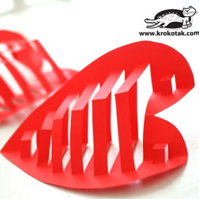 Easy DIY dimensional heart - Valentine's day craft (free printable)
