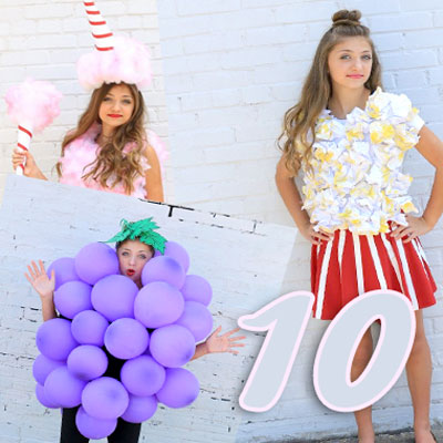 10 Different fun & quick DIY Halloween costume