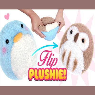 DIY Adorable reversible plush toy (owl & penguin)
