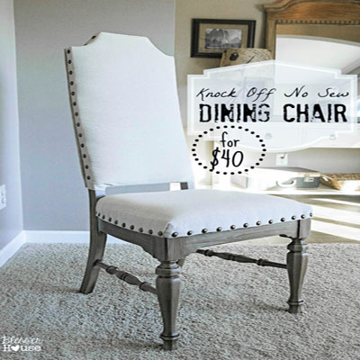 Knock off no-sew dining chairs