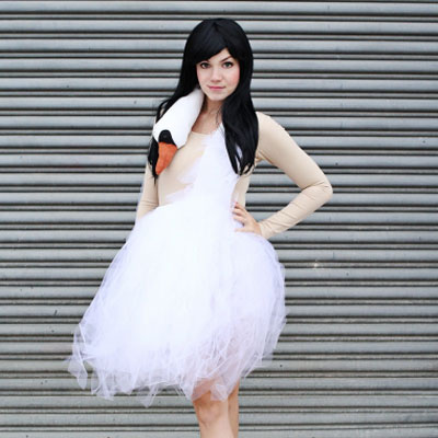 DIY Swan costume with tulle skirt (Bjork swan dress)