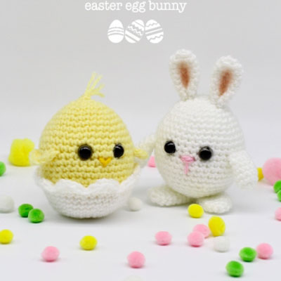 Crochet Easter egg bunny and chick (free amigurumi patterns)