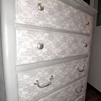 DIY Lace dresser - furniture makeover tutorial