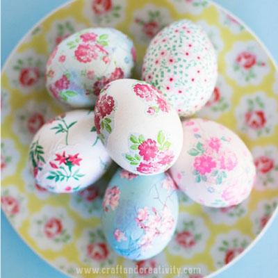 DIY Vintage decoupage  Easter eggs (mod-podge craft)
