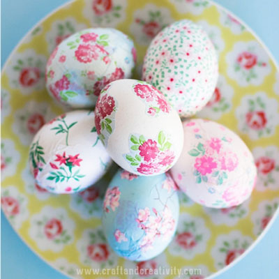 DIY Vintage decoupage  Easter eggs (mod-podge craft)