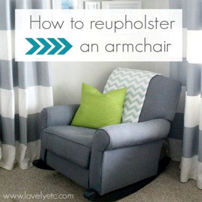 How to reupholster an armchair