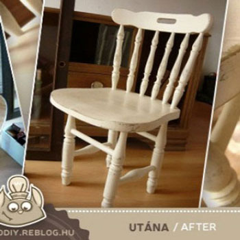 Aging technique with sanding - furniture painting tutorial
