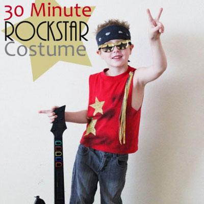 Easy & quick DIY rockstar costume - Halloween costume idea
