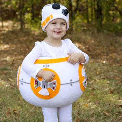 DIY BB8 droid Star Wars costume