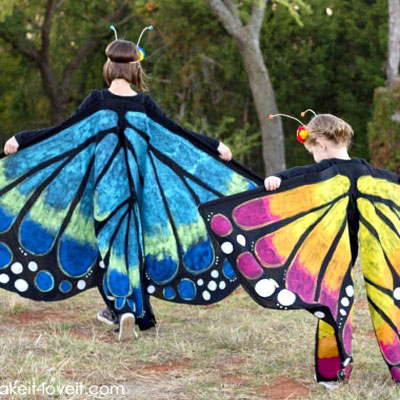 DIY Giant fabric butterfly wings - butterfly costume