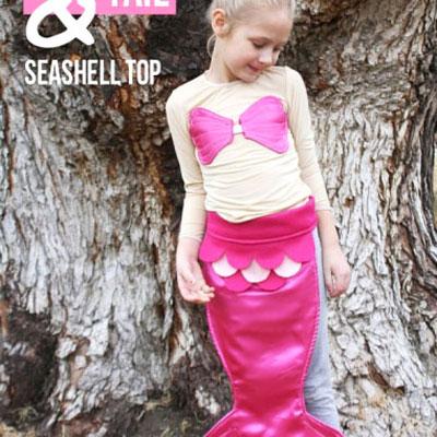DIY Mermaid costume with seashell top - sewing tutorial