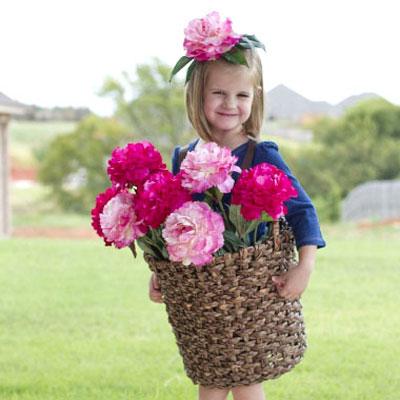Easy DIY flower basket costume - costume making tutorial