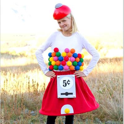 DIY Bubblegum machine Halloween costume - sewing tutorial