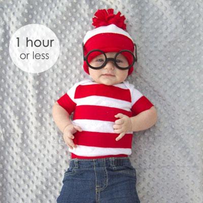 Easy DIY Waldo costume for kids - Halloween costume idea