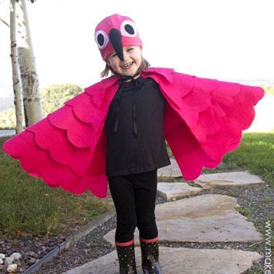 DIY Flamingo costume - free sewing tutorial