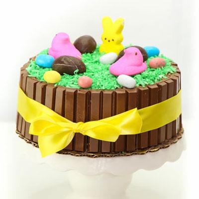 DIY Easter Kit-kat cake - cake decorating tutorial