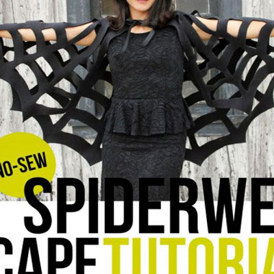 No-sew spiderweb cape