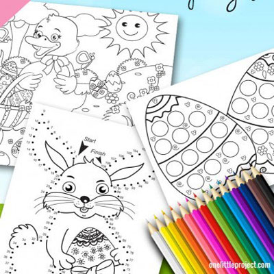 Easter activity sheets for kids
