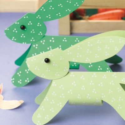 Easy DIY dimensional paper bunnies - Easter craft for kids