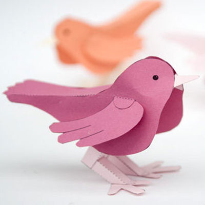 Easy DIY dimensional paper bird - spring decoration (free printable)