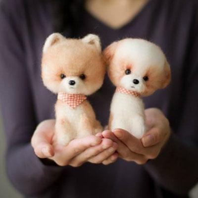 Fluffy crochet ( amigurumi ) dog - free crochet pattern