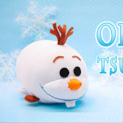 DIY Tsum-tsum Olaf plushie - sock plush toy sewing tutorial
