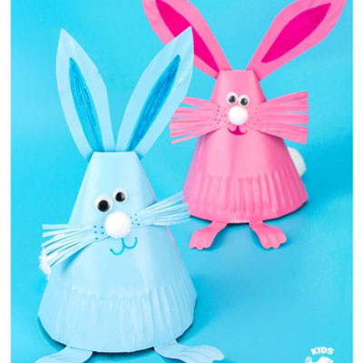 Adorable paper plate bunny craft - easy Easter craft for kids