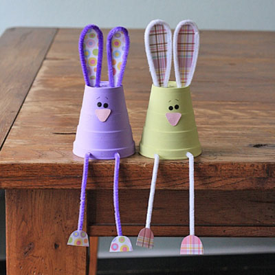 DIY Styrofoam cup Easter bunny - easy craft for kids