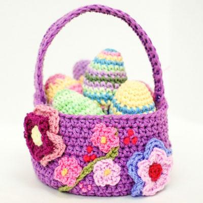 DIY Crochet spring - Easter egg basket ( free crochet pattern )