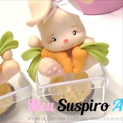 Easter bunny threat box - polimer clay bunny tutorial