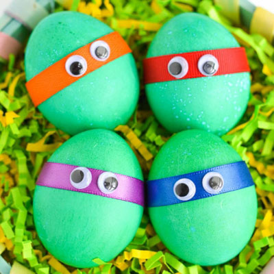 DIY Teen titan Easter eggs - Easter egg painting idea for kids