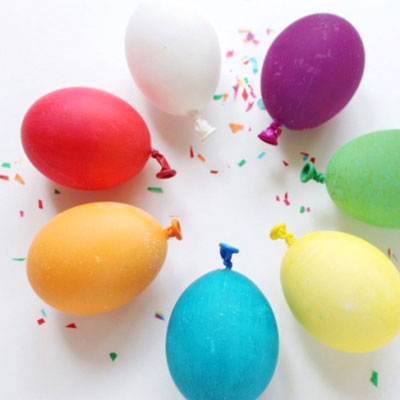 DIY Easter balloon eggs - fun Easter egg idea