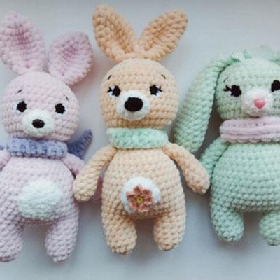 Lovely crochet bunnies - free amigurumi patterns