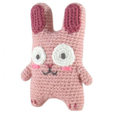 Little pink crochet bunny - free amigurumi pattern