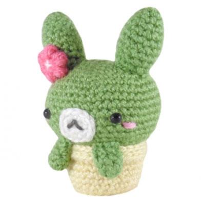 Crochet cactus bunny - free amigurumi pattern