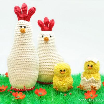 Crochet hen and chick - free amigurumi patterns