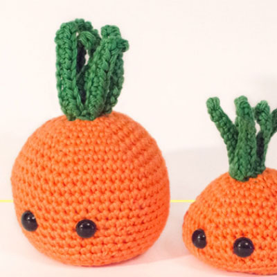 Kawaii easy crochet carrot (free amigurumi pattern)