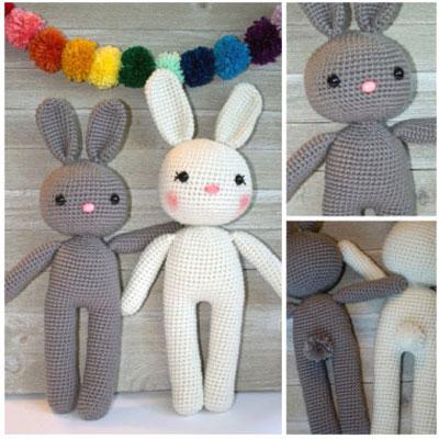 Crochet bunny with long legs - free amigurumi pattern
