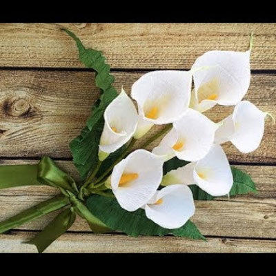 DIY Paper calla lily flower bouquet  -  beautiful spring decor