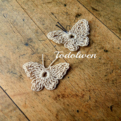 Quick and easy little crochet butterfly - free pattern