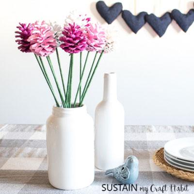 DIY Pinecone rose - fun & easy spring decoration
